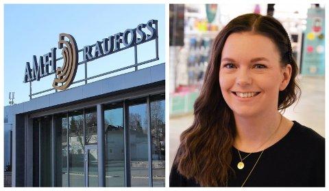 HANDLEGLADE FRA HADELAND: Senterleder ved Amfi Raufoss, Cathrine Løkken Jensrud, bekrefter at de har flere kunder fra Hadeland etter nedstengingen natt til tirsdag denne uken.