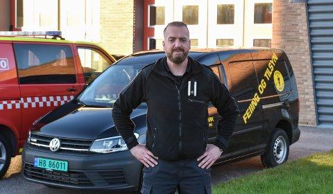 NY SJEF: Kim André Nilsen er ny seksjonsleder for feierseksjonen i Midt-Hedmark brann- og redningsvesen.