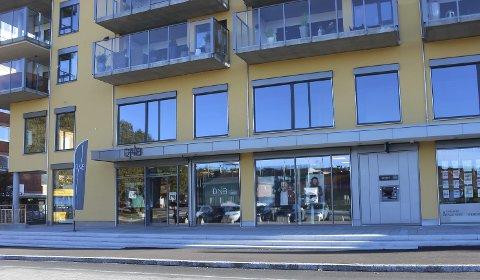 DNBs lokaler i Skomværkvartalet i Porsgrunn.