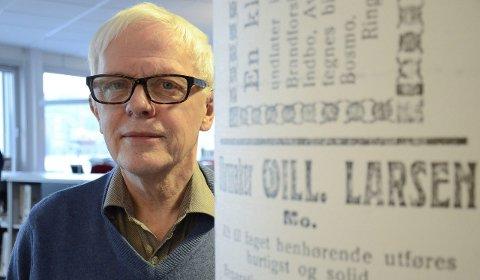 Leder: David Øverli er leder i Rana Historielag og oppfordrer folk til å søke midler innen 16. januar.Foto: Ann Kristin Kjærnli