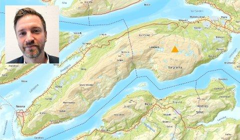 Her ved markeringa, ønsker Freyr AS å anlegge en vindmålemast. Området heter Laupen. Kurt-Are Einmo (innfelt) i Nesna Senterparti skriver at de vil påklage vedtak fra Rana kommune om å innvilge søknad fra Freyr om å plassere vindmålemast.