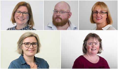 Elisabet Ljunggren, Ketil Eiane, Gry Agnete Alsos, Gøril Ursin og Mette Sørensen tiltrer nye stillinger ved Nord universitet på nyåret.