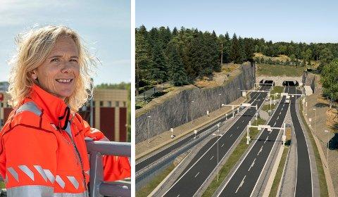 VANT ANBUDET: Skanska signerer kontrakten med Statens vegvesen 30. november. E16 Bjørum-Skaret skal etter planen åpne sommeren 2025. Illustrasjon: Statens vegvesen/ Cora (Cowi Rambøll)