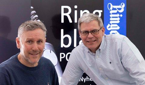HUMOR-PODKAST: Bror Andersen deltar i siste utgave av Hønefossrevyen 20 år, med Øyvind Lien som programleder.