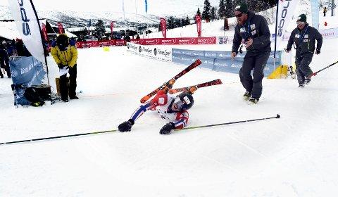 GLAD: Morgedølen Kristian Lauvik Gjelstad ga alt i da han ble verdensmester skibakken på Gaustablikk. Dermed ble han historisk. Morgedal er skisportens vugge, men aldri før har noen fra skibygda i Vest Telemark vunnet VM-gull.