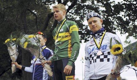 GOD SYKLING: Mikkel Eide syklet bra da han ble nummer tre i det siste gaterittet i norgescupen. Foto: privat