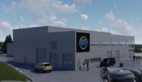 NYTT: I det nye næringsbygget skal det tilrettelegges for Dekk Swap AS, som driver dekkskift og dekkhotell.