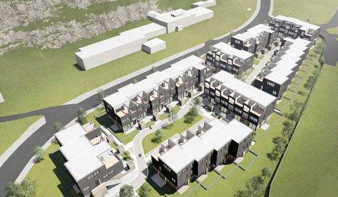 FORESLÅTT: Slik kan de nye leilighetene i Heggedal bli seende ut