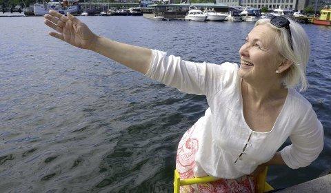 Frivillige: Fjorden Sanitetsforening, her ved leder Gina Klavenes, legger mye arbeid ned i prosjektet.