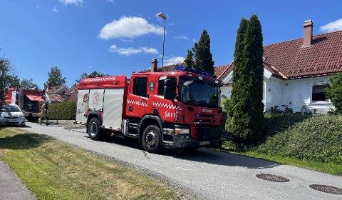 BRANN: Brannvesnet fikk raskt kontroll over brannen i en garasje i Kiserødåsen.