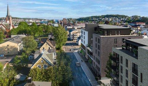 DRONNINGENS GATE 30/32: Byggeprosjektet til Salemkirken er anslått til å koste rundt 100 millioner kroner. (Illustrasjon: PV Arkitekter)