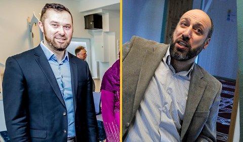 Imam Aziz Ahmedovic og imam Murshid Al Khaznawi understreker sammen med Nuur Abdi Wahab Azmed viktigheten av at man følger smittevernreglene også under feiringen av id.
