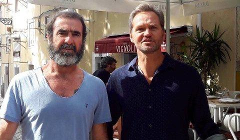TOPPMØTE: Eric Cantona og Svein Petter Grønnevik Strøm. (Foto: Privat)