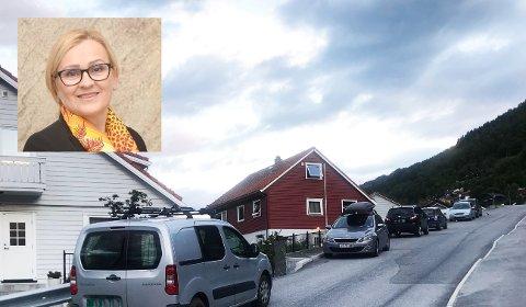 VIL HA FORBOD: Rita Navarsete er mellom dei som krev parkeringsforbod.