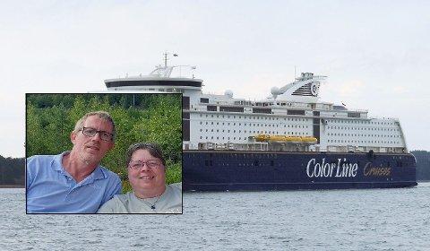 FORTVILER: Carsten Jensen Rohde (56) og Jessica Elliot Rohde (51) er skuffet over kundebehandlingen fra Color Line.