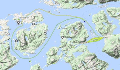 Ferga «Stordal» gikk på Halsafjorden onsdag, før den reiste mot Kristiansund. Torsdag formiddag var den på vei tilbake til Halsa–Kanestraum, samtidig som «Romsdal» på det tidspunktet var eneste ferge som trafikkerte sambandet.