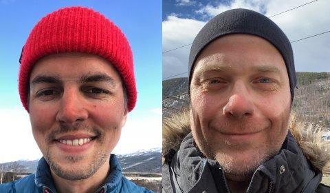 Martin Amble Ruge og Ole Erik Bjørnstadhaugen i Nasjonalparkriket Reiseliv er sett av nesten en kvart million mennesker i påska.