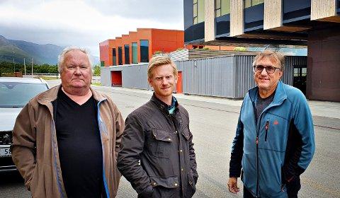 Maritech har kjøpt EDI-Systems. Are Selnes (EDI-Systems, fra venstre), Raymond Haga (Maritech) og Robert Hansen (EDI-Systems).