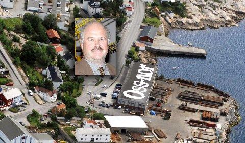 Oss-Nors anlegg på Eriksenneset er omgitt av boliger på alle kanter. Administrerende direktør Stein Arne Schnell er positiv til at det åpnes for boligutbygging på eiendommene, men er kritisk til at industrikonsernets arealer innsnevres, ved at eiendommer i bruk til næring foreslår avsatt til friområde.