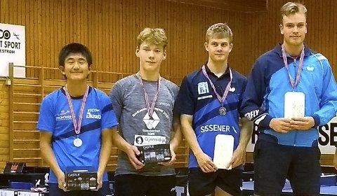 I NM: Christoffer Chen (fra venstre), Martin Frøseth, Finn Vetvik og Borgar Haug.