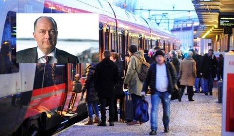 Frps Morten Stordalen har mye godt å si om tilstanden på jernbanen i Norge akkurat nå.