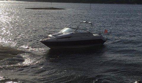 STJÅLET: Denne båten ble stjålet fra båthavna på Kjøpmannskjær forrige uke.