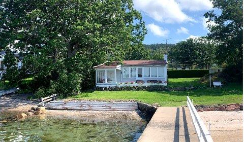 Dette er eiendommen som familien Angelil betalte 18 millioner kroner for. Nå skal det bygges ny hytte her.