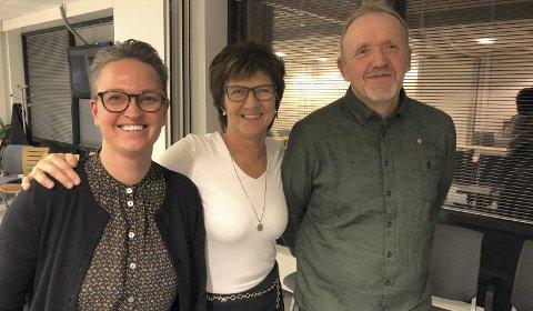 Står samlet:  June Marcussen (V) , Marianne Landaas (H) og VIdar Engh (Ap) representerer flertallet både i formannskapet og kommunestyret.