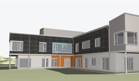 Nytt bygg: Den nye barnehagen skal stå ferdig om to år. Byggestart blir i høst.