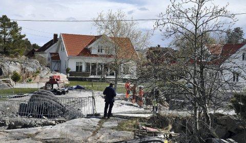 Gjeving: Svaberg ble sprengt bort for at huseieren skal få båten nærmere huset sitt. Arkivfoto: Anne Kristine Dehli