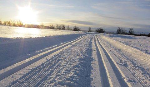 Herleg: Godt med snø og flotte skiløyper det meste av november, som her mellom Javnlie og Øysterlie.