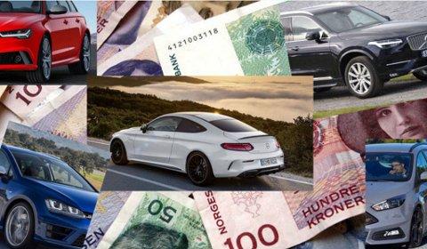 FLERE MODELLER NED I PRIS: Det blir som regel mye penger, når du skal kjøpe ny bil, og totalt sett øker prisene i 2016. Men takket være de nye avgiftene, er det flere modeller som går ned i pris også.