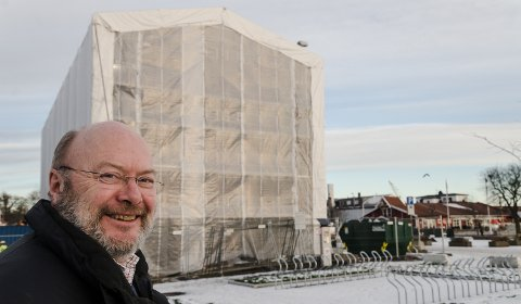 SPENT: Øystein Bredal Thorsen har allerede sikret seg andre etasje i Havneparken, det gamle Redningsmuseet som nå er under restaurering, og er spent på hvordan det blir.