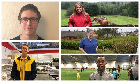 Desse er nokre av ungdommane som valte å jobbe i sommar.