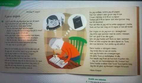 I leksene til Christines 8-åring handler det om en gutt som gruer seg til skolen og ny lærer.