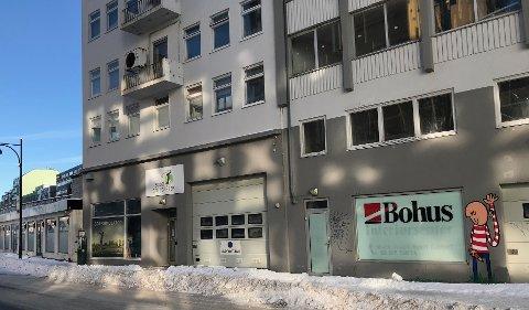 Inngang i Sjøgata. Planen er at inngangen til hotellet skal være i Sjøgata.