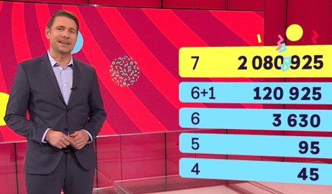 Det ble Lotto-fest lørdag. Hele åtte vinnere stakk av med over 1,8 millioner kroner hver.
