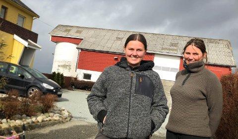 Travle dager: Siri Vistnes (t.v.), Torill Vistnes (t.h) pusser opp gården fra 60-tallet sammen med resten av familien.