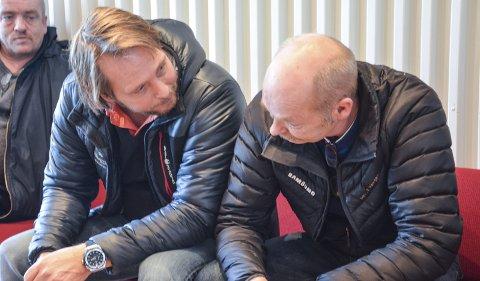 Fikk ja: Fredrik Larsen og Jan Vidar Bottolfshus kan fortsette med iskjøring på Solevannet, hvis de holder seg innenfor støykravene.