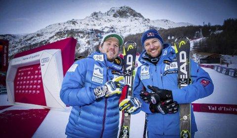 FAVORITTER: Kjetil Jansrud (t.v.) og Aksel Lund Svindal er alltid kandidater til å klatre opp på pallen.