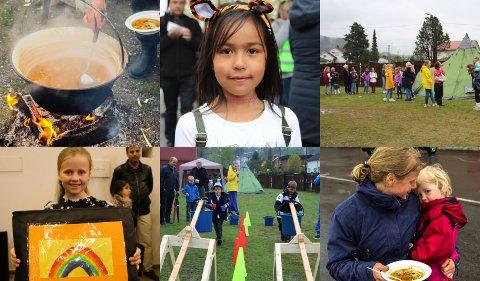 Elever og familier på Hokksund Barneskole var samlet torsdag ettermiddag for å samle inn penger til barnehjems-organisasjonen, Alaya.