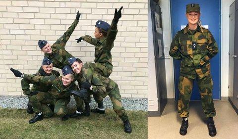 TRIVST: Benedicte Førde Mosesen (19) frå Skei er i desse dagar i førstegongsteneste i Luftforsvaret.