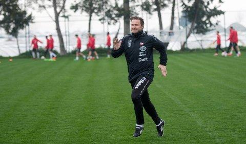 AVSLUTTET MED SEIER: Bjørn Johansen var fornøyd etter en solid 3-1-seier mot Nest Sotra. Nå reiser FFK hjem fra Tyrkia.