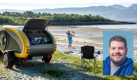 Richard Mathisen fra Leknes skal leie ut og selge campingtilhengere i Lofoten.