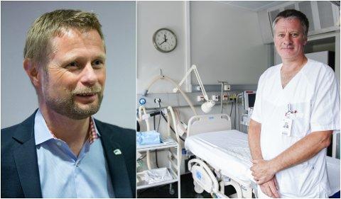 INNTRYKK: Historien til ekteparet Holen Skjelsvold fra Gausdal og overlege Stian Westad (t.h.) fra Lillehammer har gjort inntrykk på helseminister Bent Høie.