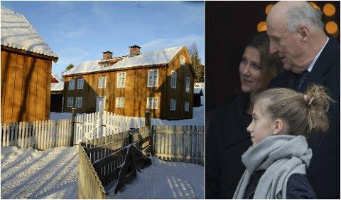 Nordre Jørstad gård på Maihaugen (bildet) er en flittig brukt kongelig residens. Ari Behn har vært her flere ganger tidligere sammen med kongefamilien. Bildet av kongefamilien er fra gudstjenesten 1. juledag.