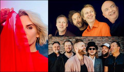 Ina Wroldsen (t.v.) deLillos (øverst) og Staut sikrer bredde og variasjon i festivalprogrammet til Lillehammer Live 2019.