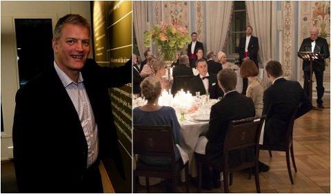 Lars Mytting ble tema i kongens tale under prins William og hertuginne Kates besøk på slottet torsdag kveld.