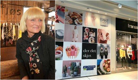 BLIR PÅ LILLEHAMMER: Anita Uldahl ved motebutikken Fjøs på Lilletorget beroliger kundene med at de blir på Lillehammer selv om butikken i Oslo nå er lagt ned.