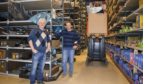 Framtidstro: Svend Bøe (t.v.) og Reidar Bønøgård tror på et godt år for Veng også i 2016. Det optimistiske synet på 2016 deler de med mange næringslivsledere i Halden.